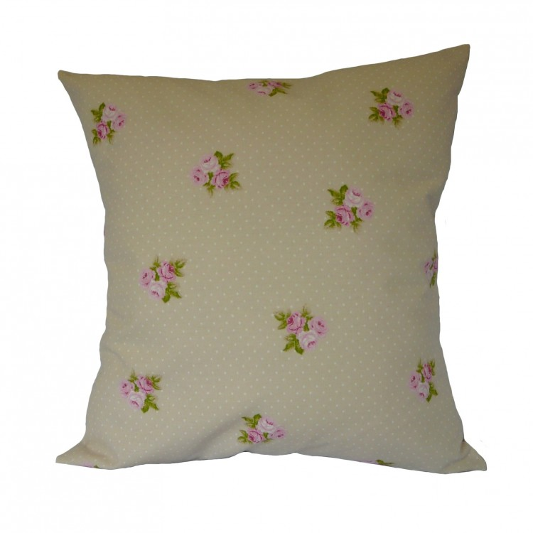 Beige Bouquet Fabric Cushion Covers