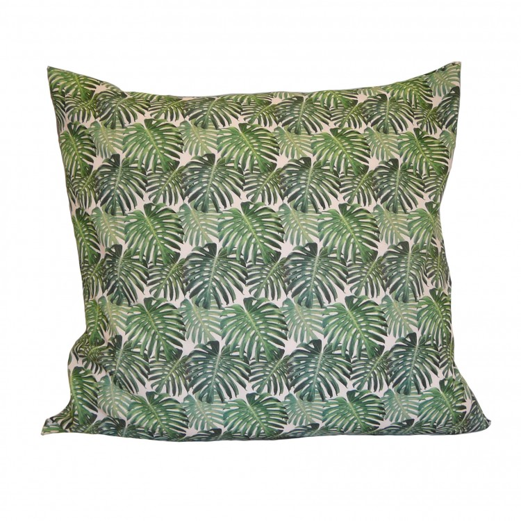 Botanical Palm Leaf Fabric Cushion Covers