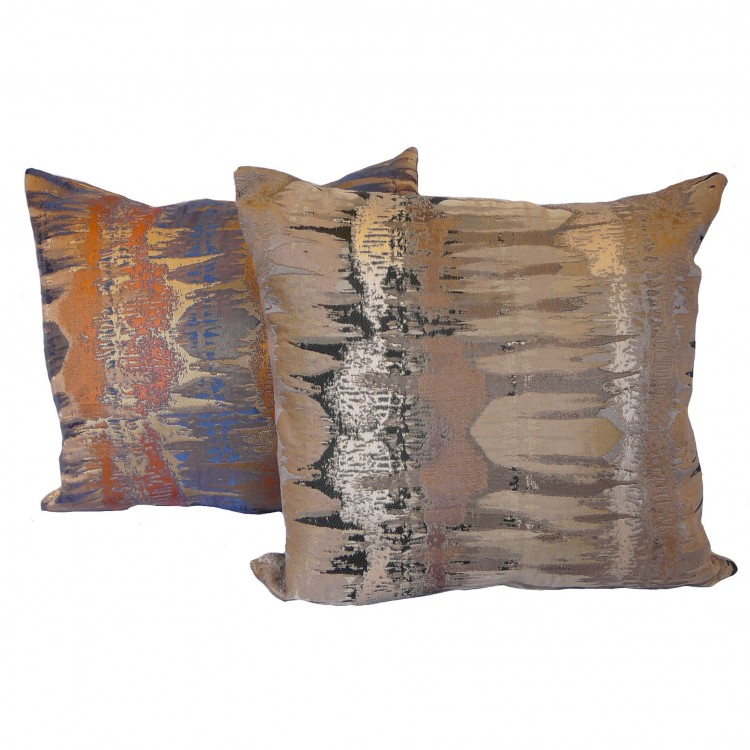 Inca Bronze or Spice Fabric Cushion Covers
