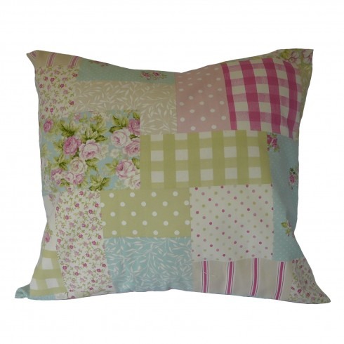 Pink Patchwork Fabric Cushion Covers
