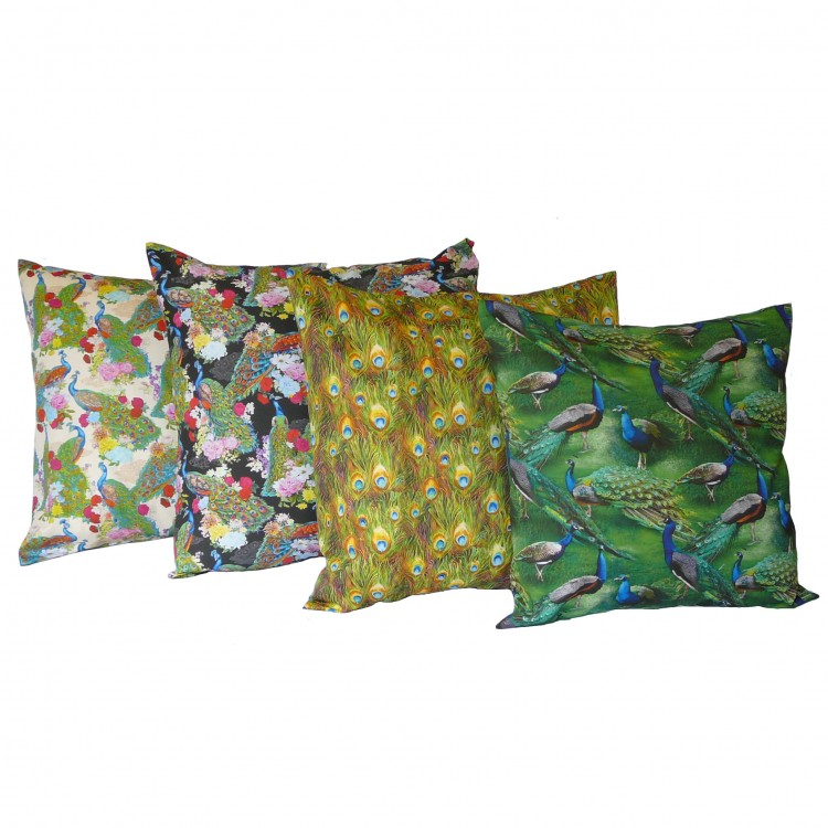 Peacock Fabric Cushion Covers
