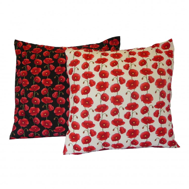 Poppies Poppy Fabric Cushion Covers