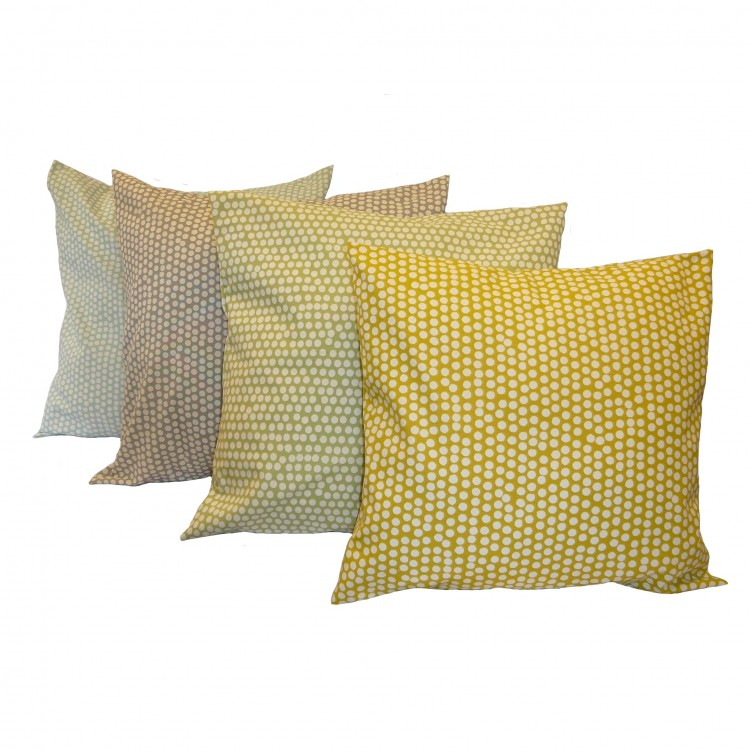 Spotty Design Fabric Cushion Covers