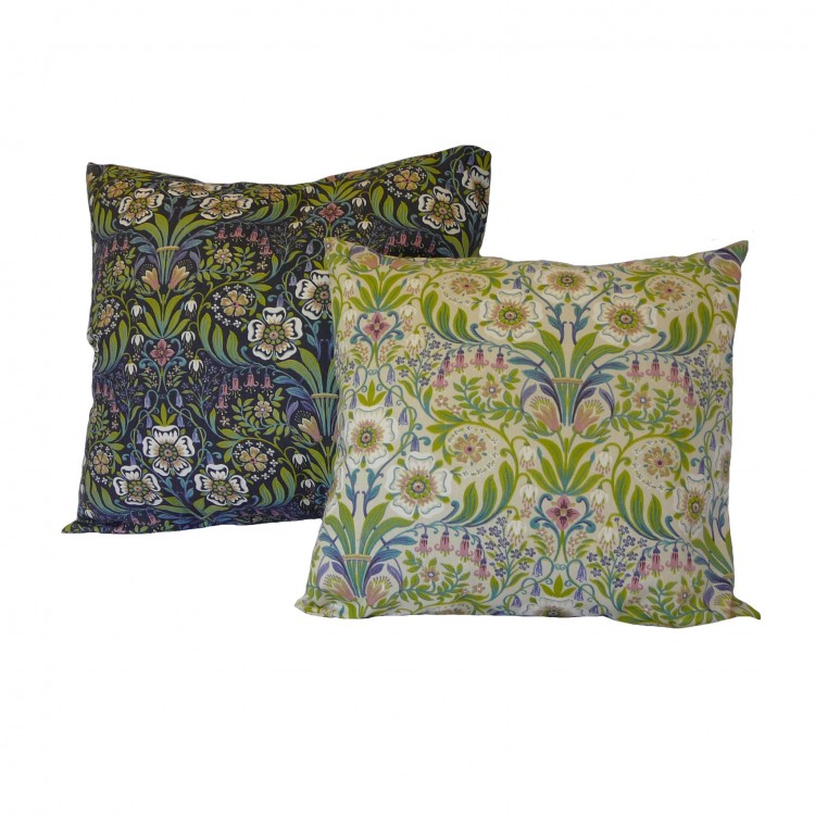 William Morris Blue and Natural Fabric Cushion Covers