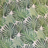 Botanical Palm Leaf Fabric Swatch