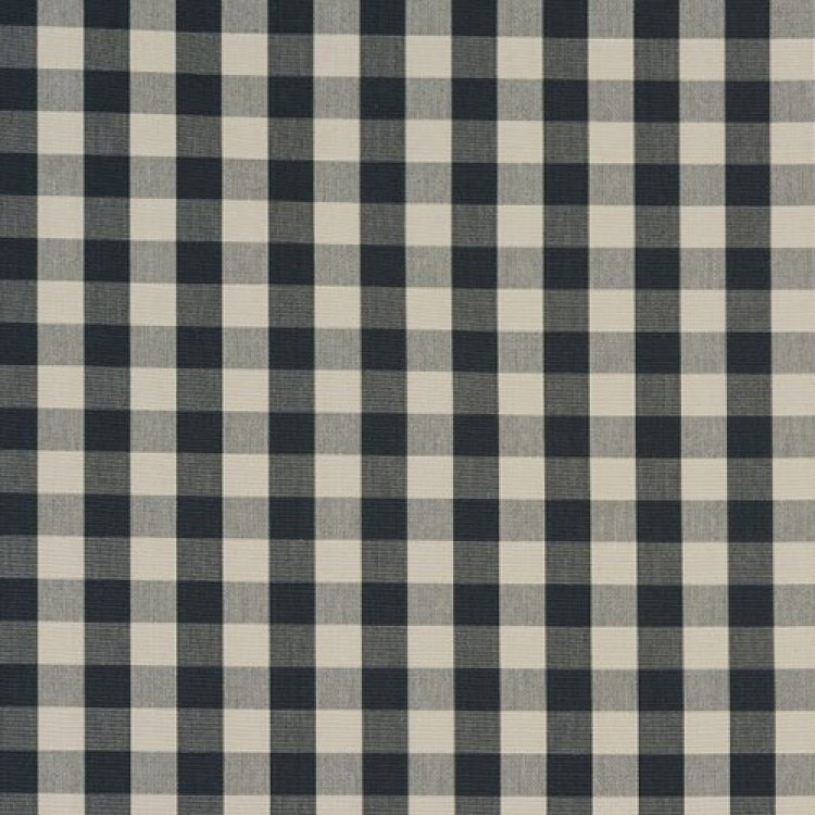 Charcoal Grey Gingham Check Swatch