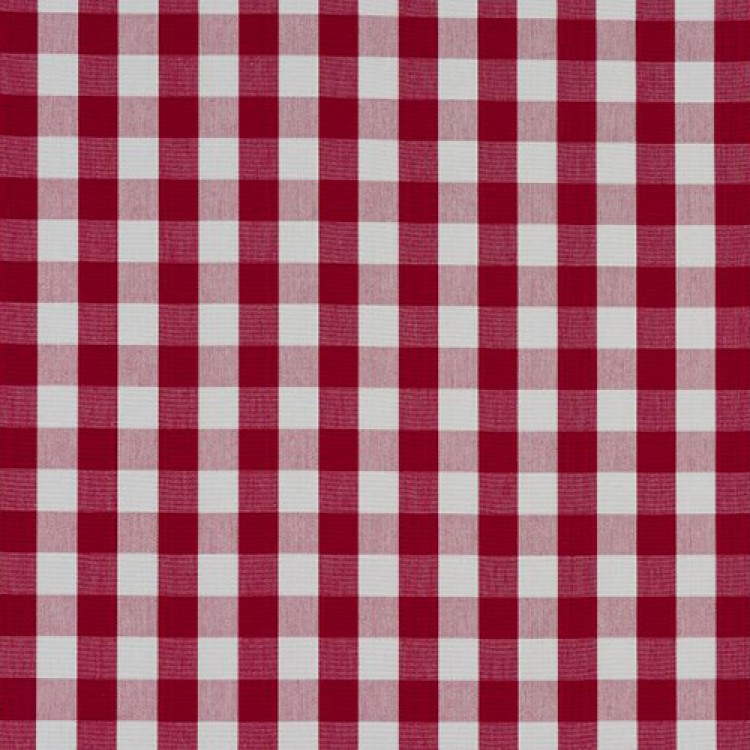 Rouge Red Gingham Check Swatch