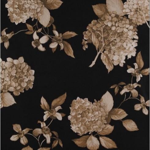 Charcoal Grey Hydrangea Floral Swatch