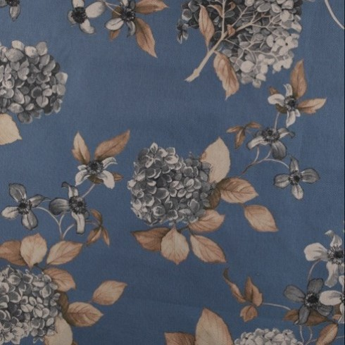 China Blue Hydrangea Floral Swatch
