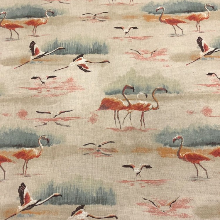 Beige Flamingo Fabric