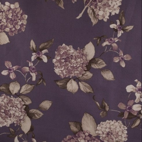 Purple Heather Floral Hydrangea Swatch