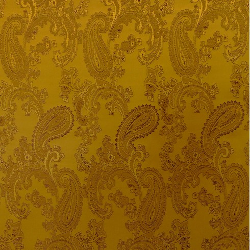 Paisley Jacquard Gold Swatch
