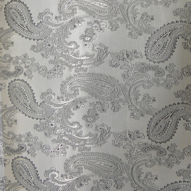 Paisley Jacquard Grey Fabric