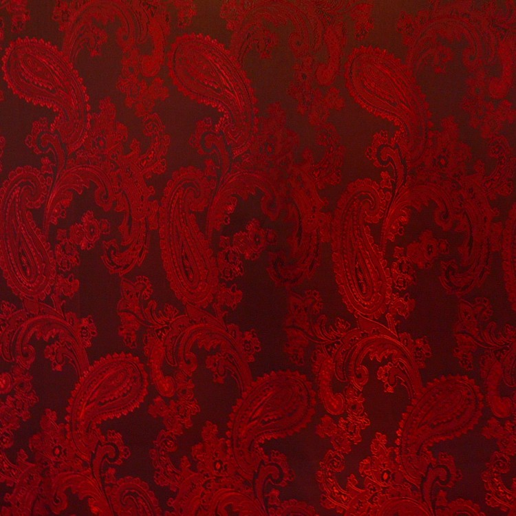 Paisley Jacquard Red Swatch