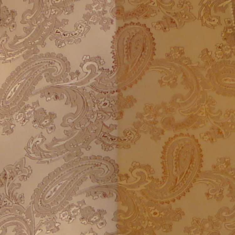 Paisley Jacquard Antique Gold Fabric