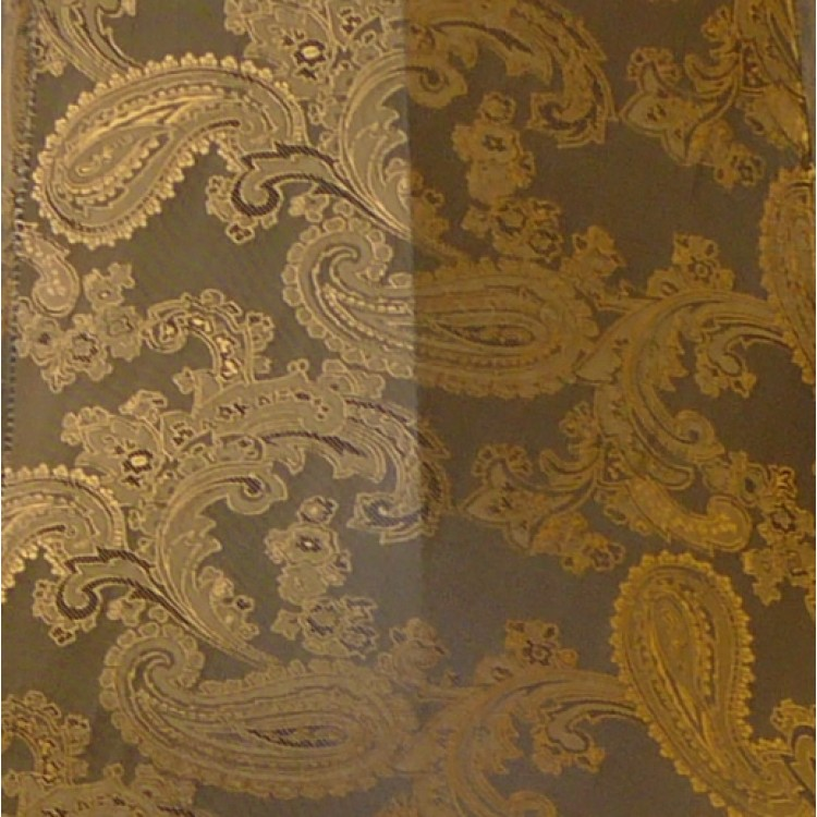 Paisley Jacquard Dark Bronze Fabric