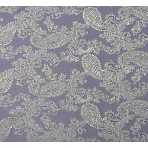 Paisley Jacquard Lilac Gold Swatch