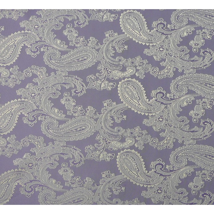 Paisley Jacquard Lilac and Gold Fabric