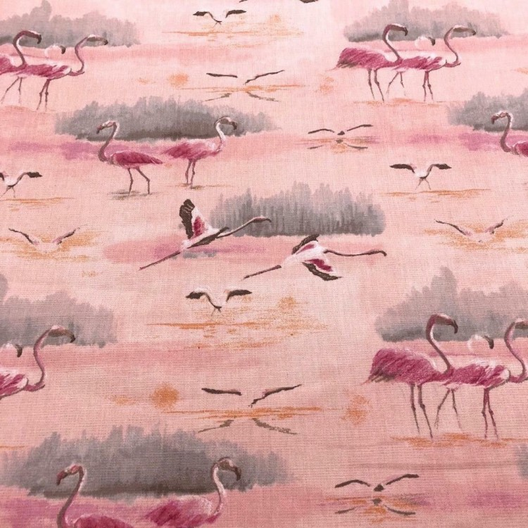 Pink Flamingo Fabric