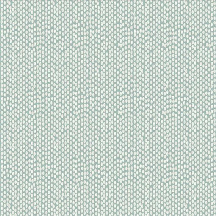 Seafoam Blue Polka Dot Fabric