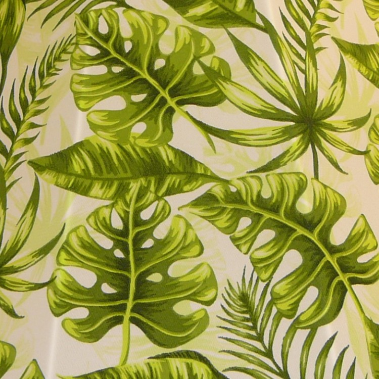 Green Tropical Leaf Fabric
