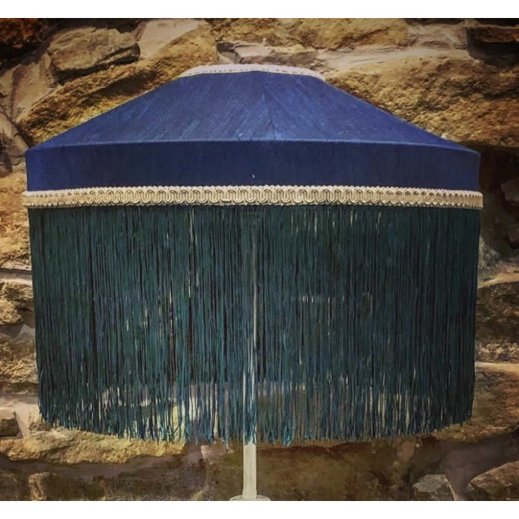 Navy Blue and Green Tiffany Lampshades