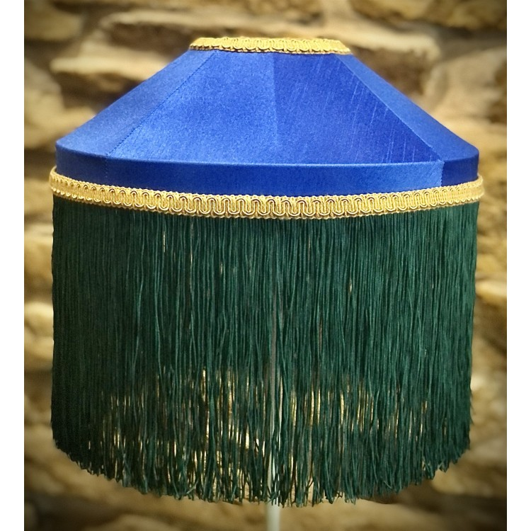 Royal Blue and Green Tiffany Lampshades